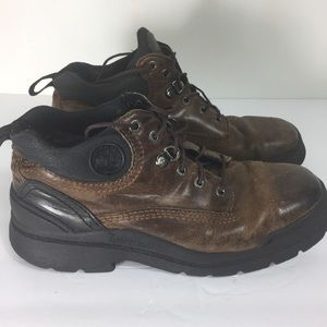 Timberland Brown 9 1/2 Leather Ankle Work Boots